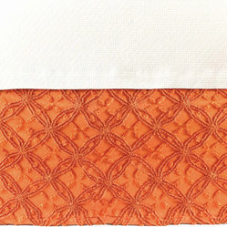 candlewick bed skirt (paprika)