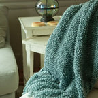 Camelot Throw - Made in New Hampshire by Kennebunk Home, this soft, light yarn has been woven into a classic throw blanket for snuggling up by the fire or even a quick run to the mailbox.