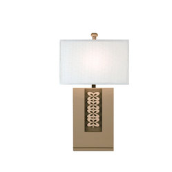 Bungalow Belt - Modern Art Lamp - Modern or contemporary? Whatever your design aesthetic, you're certain to appreciate this artistic take on a functional accessory. Crafted from engineered wood, the base is covered in a glossy gray finish. A white fabric shade and coordinating finial top it all off.