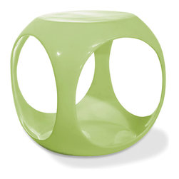 Office Star - Office Star Avenue Six Slick Cube Occasional Table in Green Finish - High gloss, molded table with internal storage area for magazines, books and more. The Avenue Six Slick cube table offers the latest look in home fashion. Available in a variety of colors.