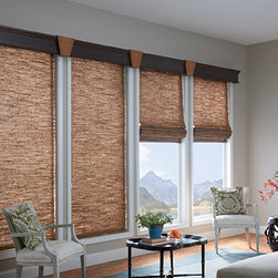Custom Window Treatments - Windows Dressed Up Showroom in Northwest Denver, 38th on Tennyson (303.455.1009), offers the latest in roman blinds or shades from leading suppliers such as Graber's Roman Collection. Photo Graber.