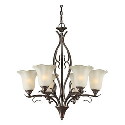 Talista - Talista Chandeliers 6-Light Black Cherry Chandelier with Umber Glass Shade - Shop for Lighting & Ceiling Fans at The Home Depot. The Burton Collection supplied by CLI features a wide variety of classic fixtures. If you are looking for a sensible way to dress up a room there is no better choice than this 6-Light Chandelier in a Black Cherry Finish complimented by Shaded Umber Glass. From the modest chandeliers to the more rustic outdoor lighting the Burton Collection will add a charming accent to any application.