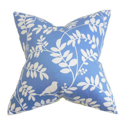 The Pillow Collection - Nyssa Floral Pillow Blue - Transform your room and make a fun and inviting space with this lively throw pillow. This decor piece adds a pop of color and texture to your lackluster interiors with its floral pattern and blue/white color combination. This home accessory is the easiest way to spruce up your bed or sofa. Made with 100% soft and plush cotton fabric. Hidden zipper closure for easy cover removal.  Knife edge finish on all four sides.  Reversible pillow with the same fabric on the back side.  Spot cleaning suggested.
