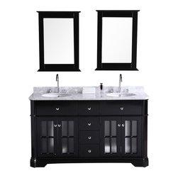"""Design Element - Double Sink Bathroom Vanity - Design Element Dec306A Imperial 60"""" Double Sink Bathroom Vanity"""
