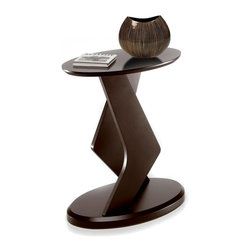 Nexera - Boomerang EVO 18 in. Plant Stand in Espresso - Urban dazzling design. Ideal for placing plants, vases or other decor items. Made of MDF. Assembly required. 16 in. W x 10 in. D x 18 in. H (9 lbs.)