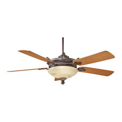 Savoy House - Savoy House Bristol Ceiling Fan in Antique Copper - Savoy House Bristol Model SV-52-15-5TK-16 in Antique Copper with Teak Finished Blades.