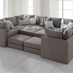 contemporary sectional sofas by Mitchell Gold + Bob Williams