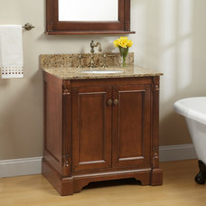 "30"" Walnut Trevett Vanity Cabinet with Undermount Basin 