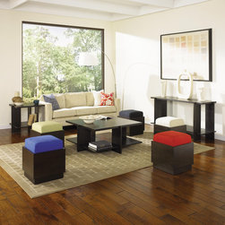 Copeland Furniture - Frank Llloyd Wright Usonian Square Coffee Table Set - Features: -Usonian collection. -Material: Solid hardwood. -Engraved with Wright's signature and a discreet serial number. -Made in the USA.