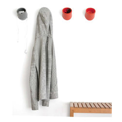 Creative Office Accessories - A wall hook with handy storage built in that's perfect for tidying everyday odds and ends in the office, the studio and more...