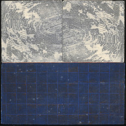 Stars and the Heavens Above - Original Collagraph Print - There is a fascinating contrast of textures and colors in this collagraph, it was made with found objects and is part of a very small edition of 5