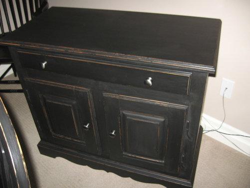 Black chalk paint project - Black chalk paint dresser ...