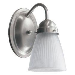"Quorum International - Quorum International 5403-1-165 Single Light 4.25"" Wide Bathroom Fixture - Single light down lighting bathroom fixtureRequires 1 100w Medium Bulbs (Not Included)UL listed for Damp locations"