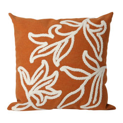 "Trans-Ocean - Windsor Orange Pillow - 20"" SQ - The highly detailed painterly effect is achieved by Liora Mannes patented Lamontage process which combines hand crafted art with cutting edge technology.These pillows are made with 100% polyester microfiber for an extra soft hand, and a 100% Polyester Insert.Liora Manne's pillows are suitable for Indoors or Outdoors, are antimicrobial, have a removable cover with a zipper closure for easy-care, and are handwashable."