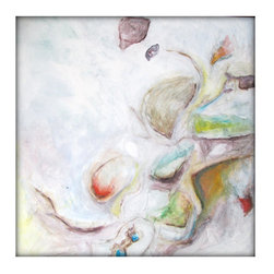 White Original Abstract Canvas Modern Acrylic Painting - 36x36 - Modern Art - Dimensions :36''x36'' profile of 1.5''