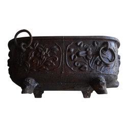 19th C. Iron Chinese Bathtub -