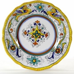 Artistica - Hand Made in Italy - Raffaellesco: Dessert/Bread Plate - Raffaellesco Collection: Among the most popular and enduring Italian majolica patterns, the classic Raffaellesco traces its origin to 16th century, and the graceful arabesques of Raphael's famous frescoes.
