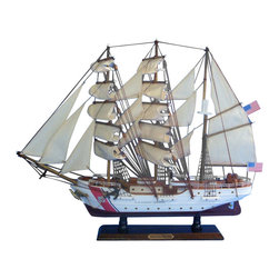 """Handcrafted Model Ships - USCG Eagle 21"""" - Wood Coast Guard Model Boat - Sold fully assembled."""