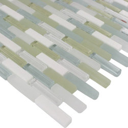 "Sample Nexus Primavera Mini 1/4 Sheet Glass Tile - sample-NEXUS PRIMAVERA MINI BRICK 1/4 SHEET GLASS TILE SAMPLE You are purchasing a 1/4 sheet sample measuring approximately 3 "" x 12 "". Samples are intended for color comparison purposes, not installation purposes. -Glass Tiles -"
