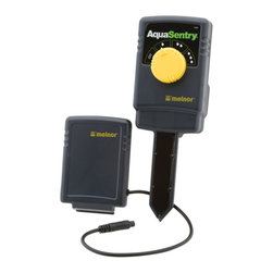 Melnor - AquaSentry Wireless Sensor - Stop watering your lawn or garden when Mother Nature is already doing the job. The AquaSentry, in conjunction with select Melnor AquaTimers, tests soil before watering, assuring healthier plants and beautiful lawns, while conserving precious resources. Requires two AA batteries. 3300 AquaSentry works with current model AquaTimers 3015, 3060, 3100, and 3280.