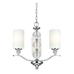 Sea Gull Lighting - Sea Gull Lighting 3113403 Englehorn 3 Light 1 Tier Chandelier - Features: