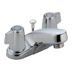DELTA FAUCET - Lead Law Compliant 1.5 GPM 2 Handle Center Set Three Hole ADA Bath Faucet - Features: