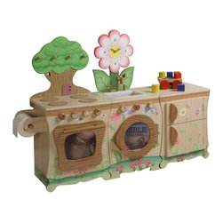 Teamson Design - Teamson Kids Enchanted Forest 3-Piece Kitchen Play Set - Teamson Design - Kitchens - W9647A9648A9649APKG - Teamson Kids Enchanted Forest 3-Piece Kitchen Play Set