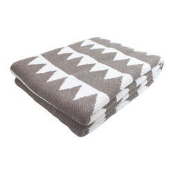 Twin Peaks Throw Blanket - The Twin Peaks Throw Blanket adds a warm and comfy look to any room. Made from 80% recycled cotton and 20% acrylic, this throw feels super soft and is versatile enough to drape over the sofa or bed's end. The throw's geometric design and neutral colors make any room feel rich and stylish all year.