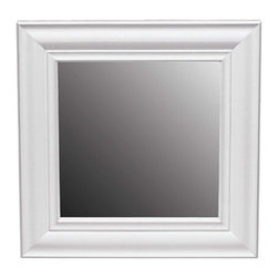 Renovators Supply - Mirrors White Pine 12'' x 12'' Mirror | 136318 - White MIRROR: This solid pine measures 12 in. x 12 in. with the frame. Offers 8 in. x 8 in. of actually mirror. It is perfect for hallways and tight spaces. Sold individually.