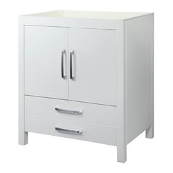 Decolav - Decolav Cameron without Countertop - DECOLAV's Cameron Vanity has double front doors and a deep lower drawer. Soft closing door hinges and drawer slides allows for a smooth secure close.