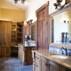 Rustic Bathroom by Interior Concepts Design House