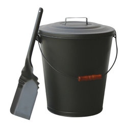 Uniflame - Uniflame C-1724B Olde World Iron Finish Ash Bin w/ Lid And Shovel - Olde World Iron Finish Ash Bin w/ Lid And Shovel belongs to Fireplace Accessories Collection by Uniflame