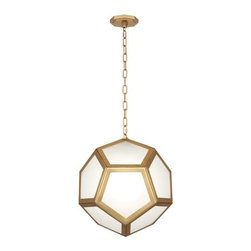 "Robert Abbey - Mary McDonald Pythagoras 16 3/4"" Wide Brass Pendant Light - Robert Abbey Lighting"