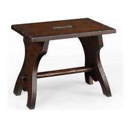 Jonathan Charles - New Jonathan Charles Ottoman Dark Brown Oak - Product Details