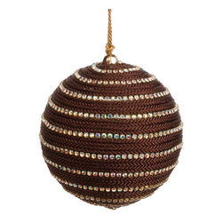 Silk Plants Direct - Silk Plants Direct Jewel Braid Ball Ornament (Pack of 4) - Chocolate - Pack of 4. Silk Plants Direct specializes in manufacturing, design and supply of the most life-like, premium quality artificial plants, trees, flowers, arrangements, topiaries and containers for home, office and commercial use. Our Jewel Braid Ball Ornament includes the following: