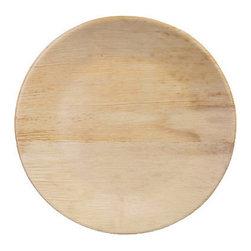 Bamboo Studio - Bamboo Studio Round Bamboo Deep Plates, Set of 8 - Made from 100% natural aged bamboo sheath.