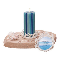 Deco Glow - Coral Pillar Candleholder Set of Six Candle Holders (Candles not Included) - Bring  a  touch  of  the  tropics  into  your  into  your  home  with  this  beautiful  poly  resin  coral  candle  holder.  Perfect  for  a  beach-themed  bath  or  as  a  unique  pillar  candle  holder.  Each  case  includes  six  holders,  each  shaped  to  resemble  coral.  A  unique  addition  to  your  decorative  ocean  or  beach  decorating  style.