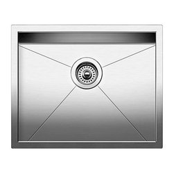 Blanco - BLANCO QUATRUS R0 Stainless Steel Small Single Bowl Undermount Sink - BLANCO 518478 QUATRUS R0 Stainless Steel Small Single Bowl Undermount sink