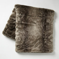 Faux-Fur Throw, Ombré - It's always nice to have a cozy throw to keep you warm on those chilly winter mornings.