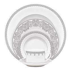 Waterford - Waterford Lismore Lace Platinum Formal Dinnerware 5-Piece Place Setting - Waterford Lismore Lace Platinum Formal Dinnerware 5-Piece Place Setting