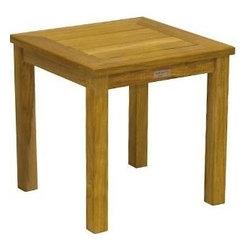 "Newport Teak Tall 20"" Square Side Table - Newport Tall Square Side Table is nearly 22� tall. Pair it with the smaller 15�"