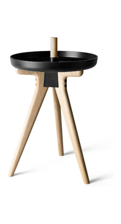 MENU - Norm Flip Around Chair to Table, Black/Light Wood - A few simple adjustments and you can transform the Flip Around chair from the key-keeping tray in the hallway, to the table holding your afternoon coffee and into a surprisingly comfortable stool. A new multi-functional piece of furniture that can assist you all over the house, kinda like the butler you never had.