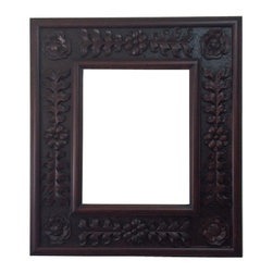Fancydecor - Decorative French Mirror Frame Solid Carved Wood, Mahogany - SOLID Frame Mirror carver