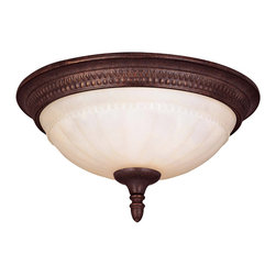 Savoy House - Savoy House KP-6-506-13-40 Liberty Flush Mount - Climb into your horse drawn carriage and go back in time with the Liberty collection. A dignified Colonial design with a rustic Walnut Patina finish almost makes this collection an amercian treasure.