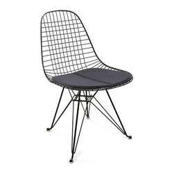 Eiffel Tower Wire Chair - This chair will always be a personal favorite because it's streamlined and versatile. It can easily be used in a modern space, but can also add some nice contrast in a more traditional space. I love the idea of using these as dining chairs around a rustic wood table.