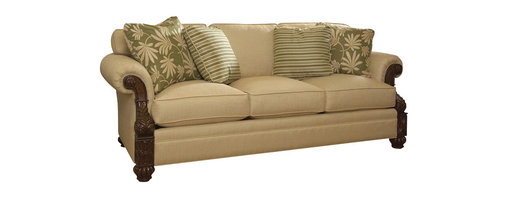 Lexington - Tommy Bahama Home Island Estate Benoa Harbour Sofa - A handsome loose back three cushion sofa featuring a traditional build and paradise-inspired accents that make this piece an in-home vacation spot that provides comfort and relaxation.