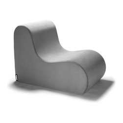 Jaxx Bean Bags - Jaxx Midtown Foam Accent Chair, Pewter - Stunning with smooth lines, the Midtown Chair is named for one of our favorite Atlanta areas. Much like its namesake, this chair is both classic and modern. The ergonomic design is wrapped in a plush twill that is sure to please, and the gentle curves make this chair an easy place to relax, plus the thoughtful shape will stand the test of time to become a lasting statement piece in your home. The cover is easily removable if it gets dirty, and, if you decide to redecorate, the Midtown Chair updates with you by offering individual covers in gorgeous colors.