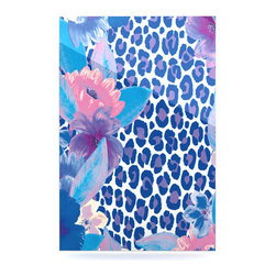 "Kess InHouse - Aimee St. Hill ""Leopard Blue"" Metal Luxe Panel (16"" x 20"") - Our luxe KESS InHouse art panels are the perfect addition to your super fab living room, dining room, bedroom or bathroom. Heck, we have customers that have them in their sunrooms. These items are the art equivalent to flat screens. They offer a bright splash of color in a sleek and elegant way. They are available in square and rectangle sizes. Comes with a shadow mount for an even sleeker finish. By infusing the dyes of the artwork directly onto specially coated metal panels, the artwork is extremely durable and will showcase the exceptional detail. Use them together to make large art installations or showcase them individually. Our KESS InHouse Art Panels will jump off your walls. We can't wait to see what our interior design savvy clients will come up with next."
