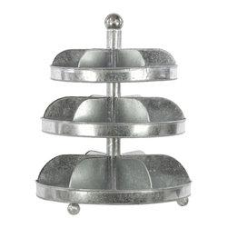 Zinc Galvanized Metal Storage/Organizer 3 Tier - Large - *Metal Storage/Organizer 3 Tier LG Galvanized Zinc