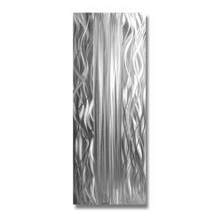 Pure Art - Magnimosity Exposed Abstract Aluminum Wall Hanging - Get lost in the silence! Give your walls peace and tranquility with the Magnimosity Exposed Abstract Aluminum Wall Hanging. Every eye will be intrigued by the presence of this unique wall sculpture. This metal wall sculpture has deep tones of hand painted silver on silver to bring depth to any room. Beautiful piece of metal wall art has been hand crafted by talented craftsman using the finest of materials. A clear coat finish has been applied for added protection. Bring modern appeal to your decor in the home or office when you hang this work of art on your wallsMade with top grade aluminum material and handcrafted with the use of special colors, it is a very appealing piece that sticks out with its genuine glow. Easy to hang and clean.